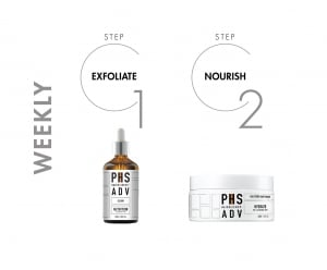 PHS HAIRSCIENCE ADV hair product recommendations for weekly treatment