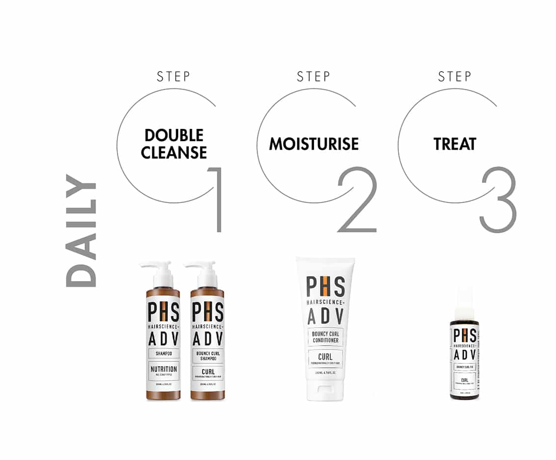 PHS HAIRSCIENCE®️ Permed Curly Hair Daily Regime