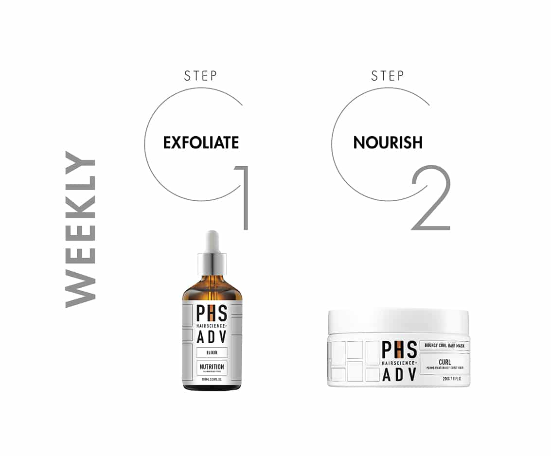 PHS HAIRSCIENCE®️ Permed Curly Hair Weekly Treatment